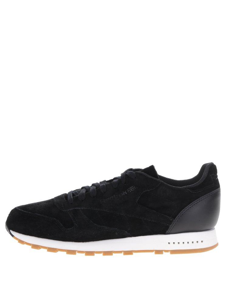 Pantofi sport negri din piele întoarsă Reebok