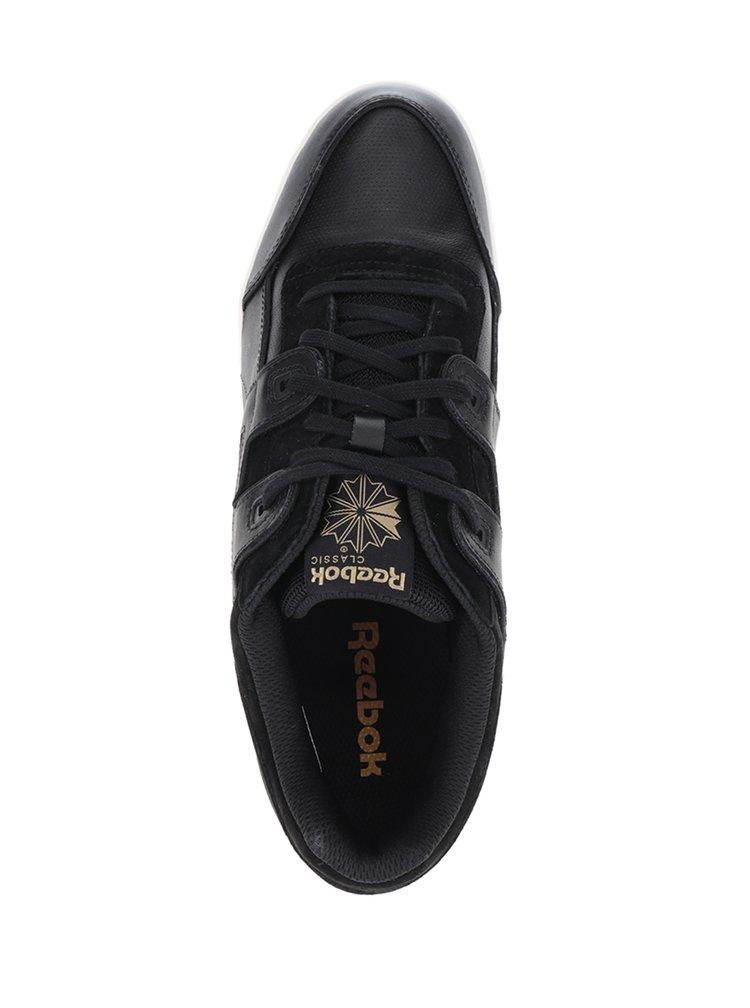 Černé pánské kožené tenisky se semišovými detaily Reebok Workout Plus ALR