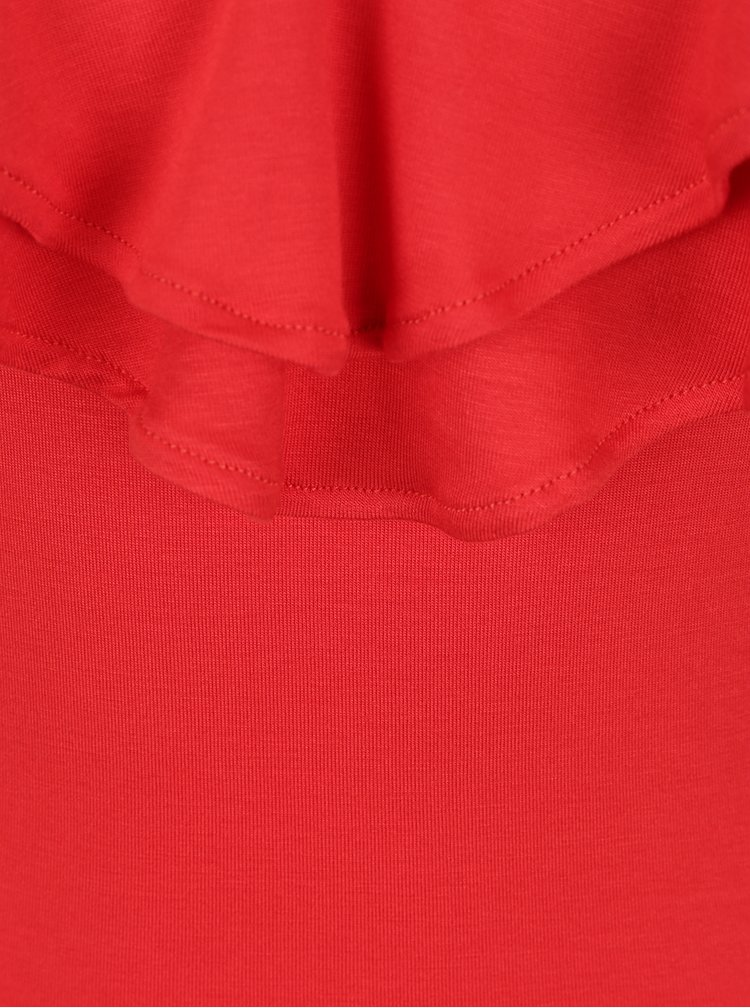Bluză roșie cu volane Miss Selfridge