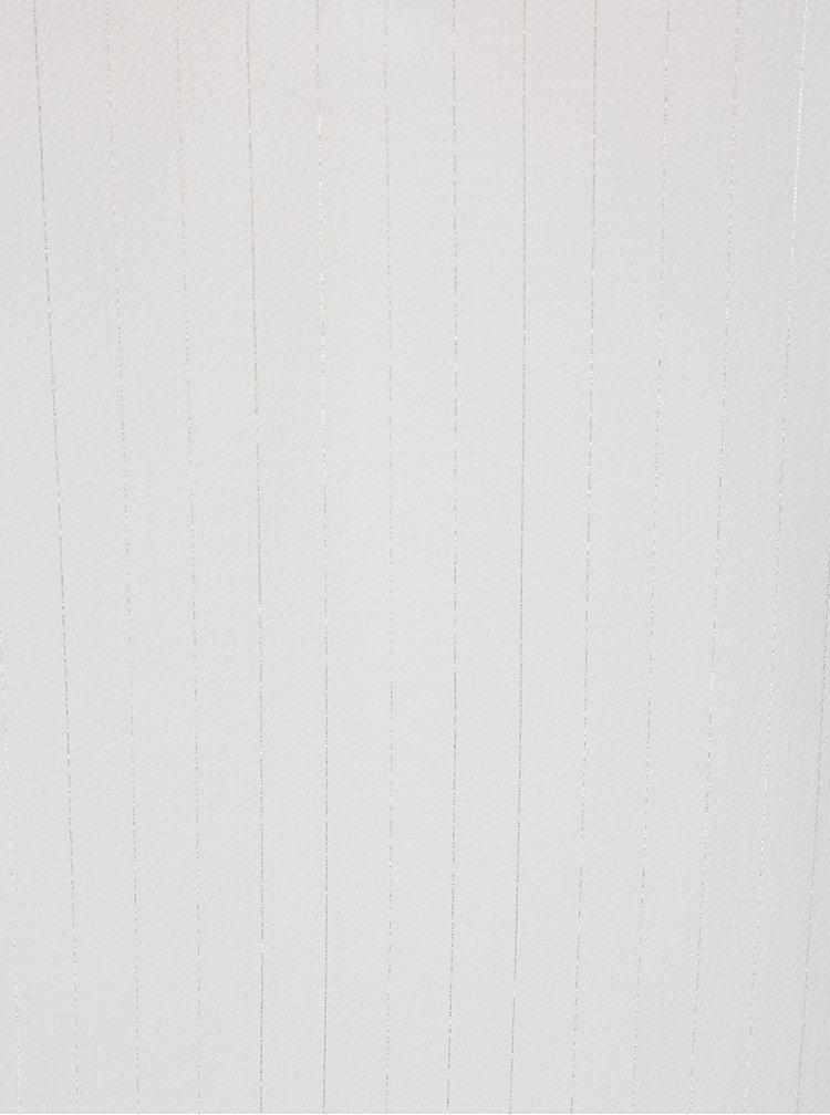 Krémová halenka s vázáním na zádech Miss Selfridge