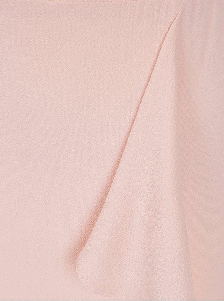 Rochie maxi roz pal cu volane Miss Selfridge Petites
