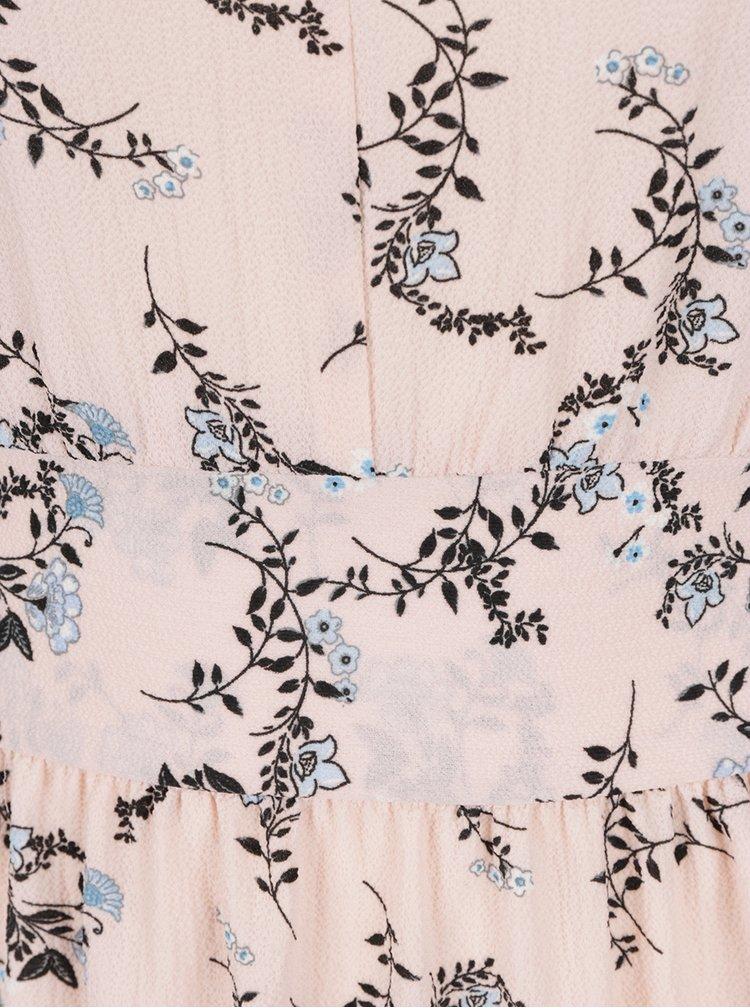 Růžové květované šaty Miss Selfridge Petites