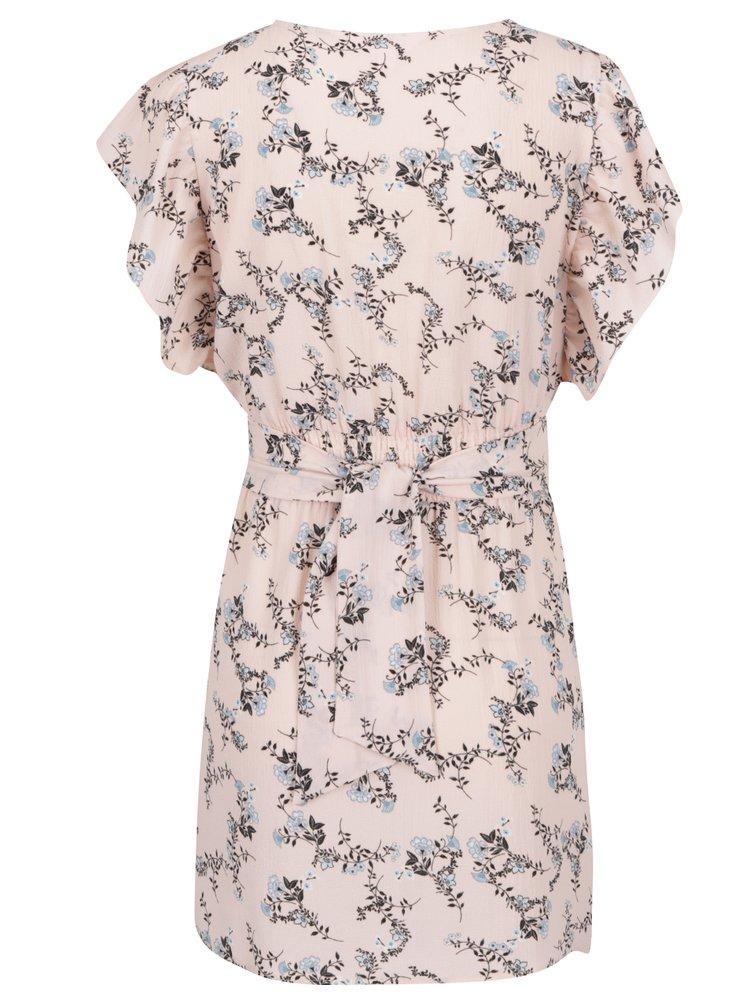 Rochie roz cu print floral Miss Selfridge Petites