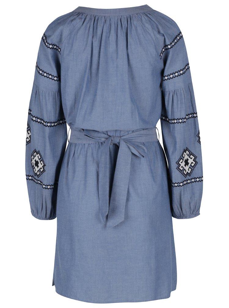 Rochie albastră cu motive etno alb negru Miss Selfridge