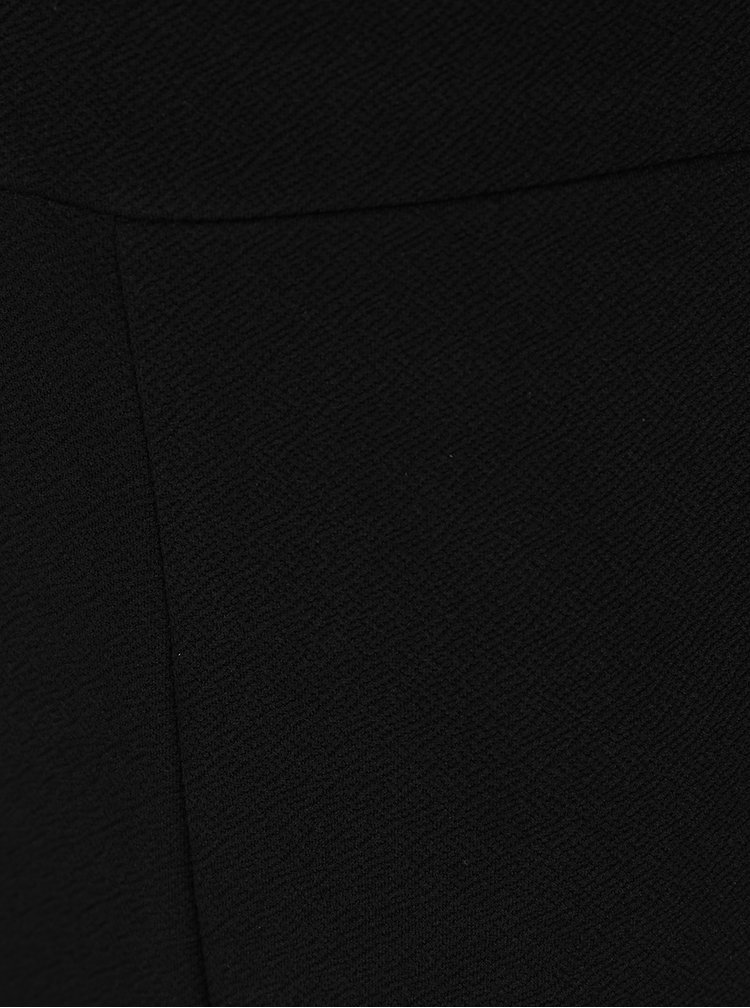Černý krátký overal s průstřihem v pase Miss Selfridge