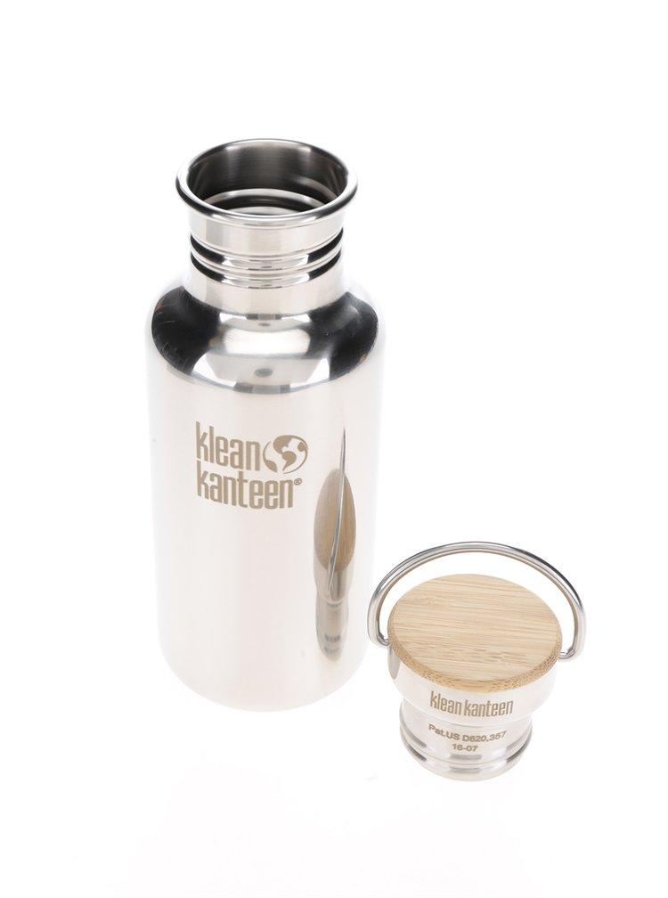 Nerezová lahev ve stříbrné barvě Klean Kanteen Reflect 532 ml