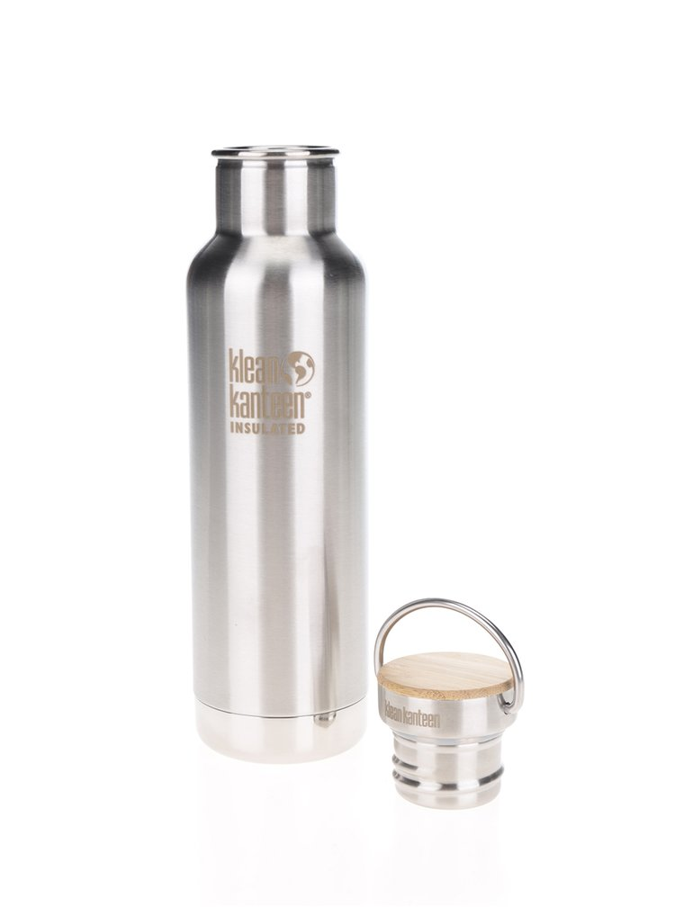 Sticlă de apă Klean Kanteen Insulated Reflect 592 ml cu dop din bambus