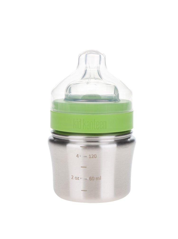 Nerezová kojenecká lahev ve stříbrné barvě Klean Kanteen Baby Bottle 148 ml