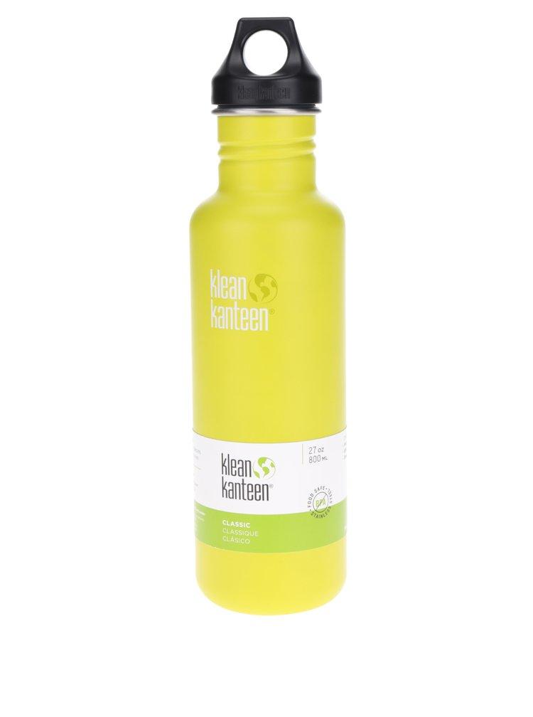 Svetlozelená nerezová fľaša Klean Kanteen Classic 800 ml