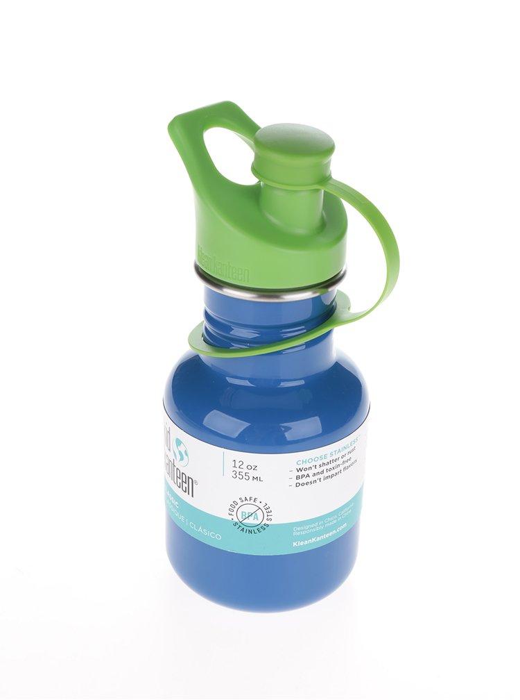 Tmavě modrá dětská nerezová lahev Klean Kanteen Kid Classic Sport 355 ml