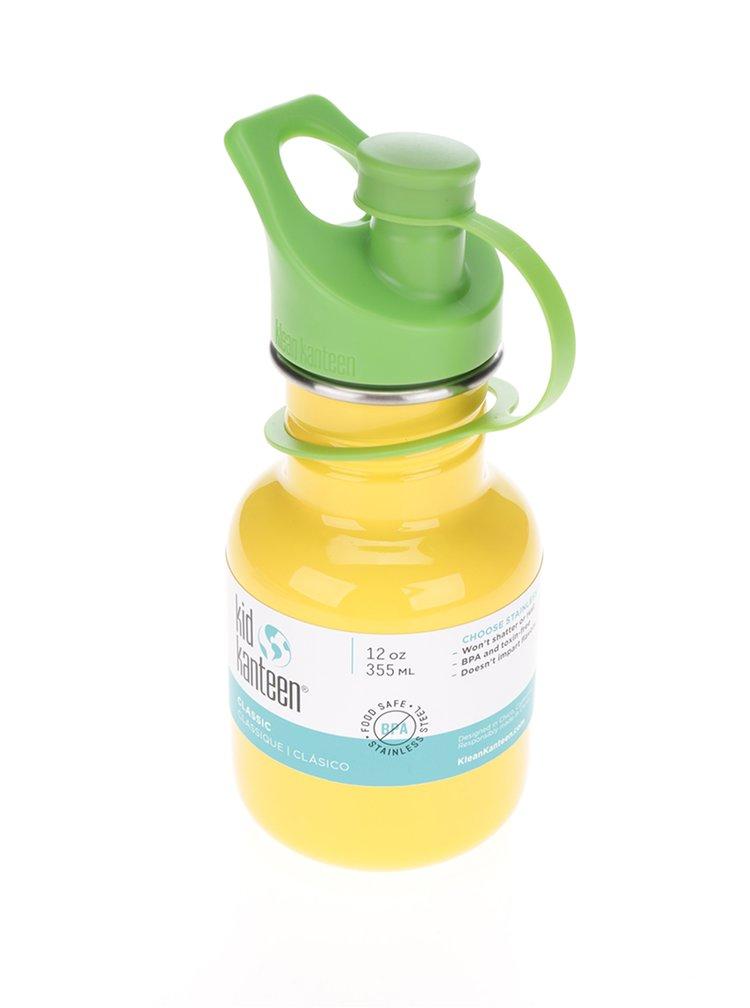 Žlutá dětská nerezová lahev Klean Kanteen Kid Classic Sport 355 ml