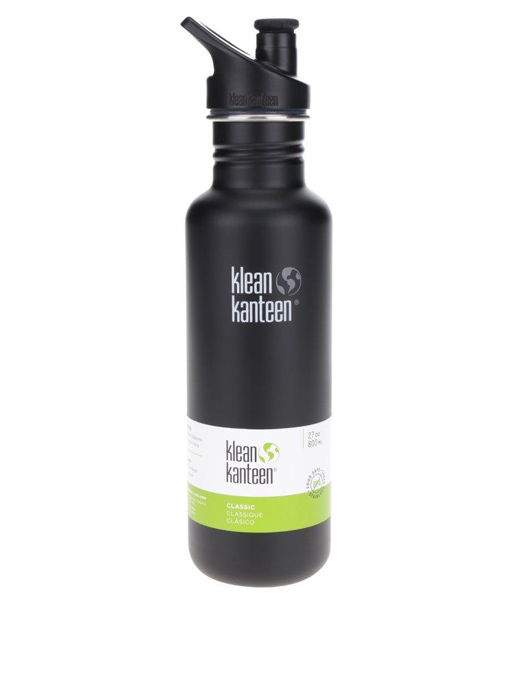 Černá nerezová lahev Klean Kanteen Classic 800 ml