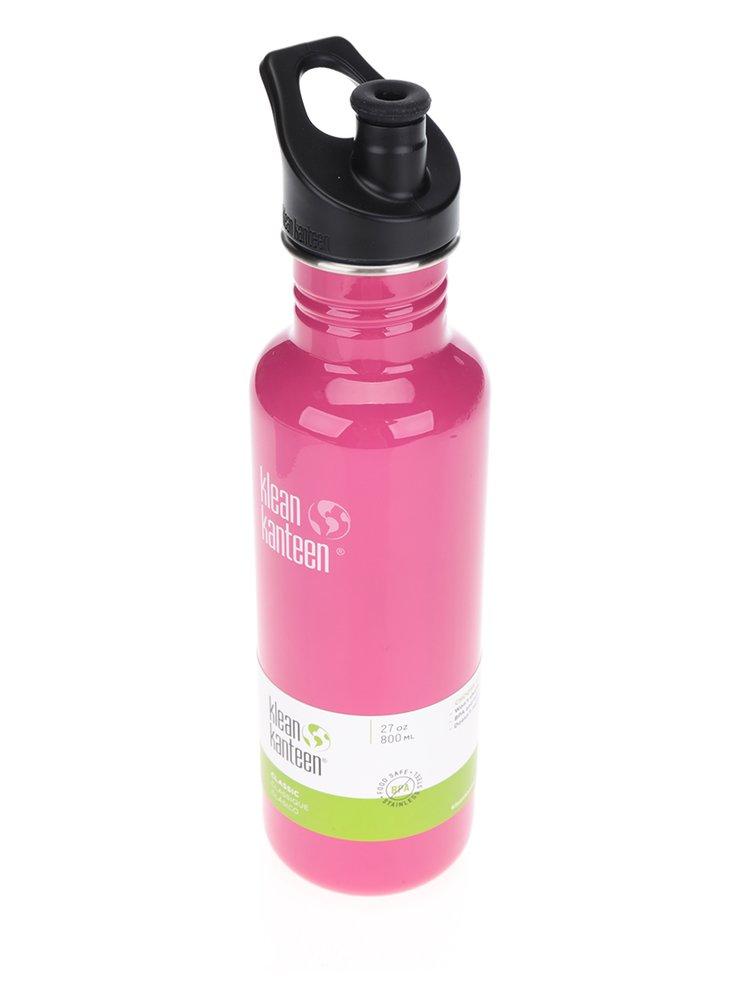 Růžová nerezová lahev Klean Kanteen Classic 800 ml