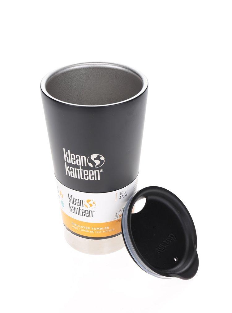 Černý nerezový termohrnek Klean Kanteen Insulated Tumbler 473 ml