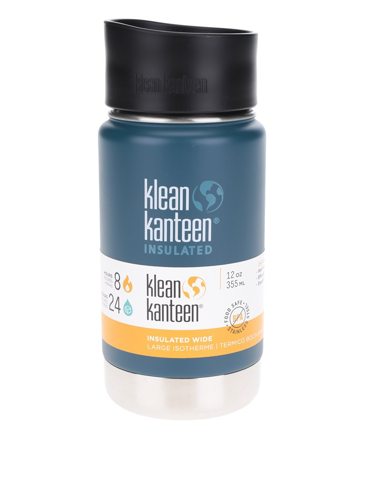 Petrolejová nerezová termoska Klean Kanteen Insulated Wide 355 ml