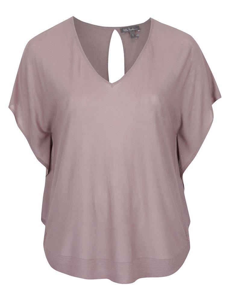 Bluză roz pudrat Ulla Popken  mâneci fluture