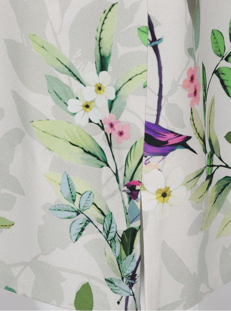 Rochie gri deschis Ulla Popken  imprimeu floral