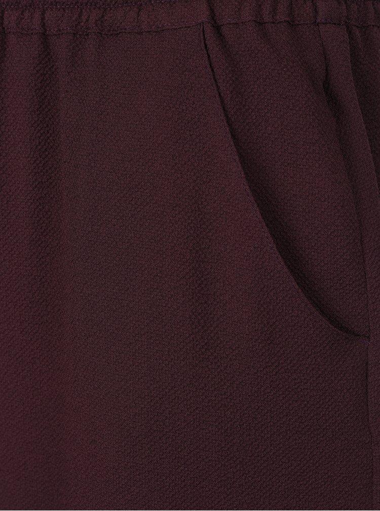 Tmavě vínová sukně s kapsami Ulla Popken