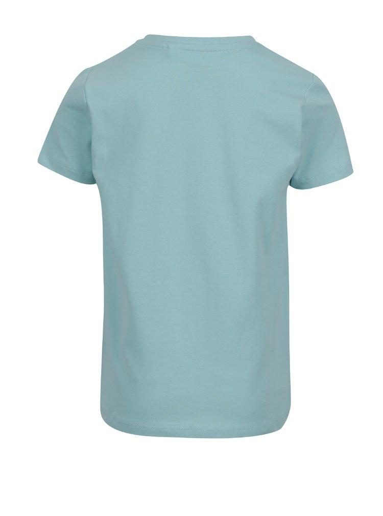 Světle modré klučičí tričko s potiskem name it Vuxjess