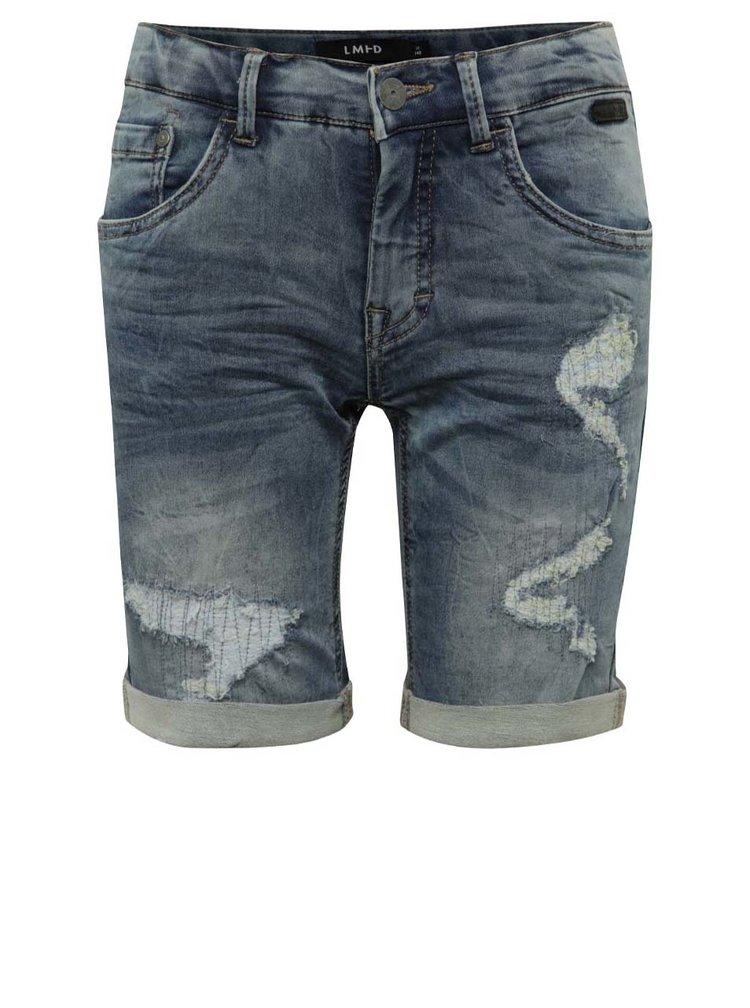Pantaloni scurți albaștri LIMITED by name it Asher cu aspect deteriorat pentru băieți