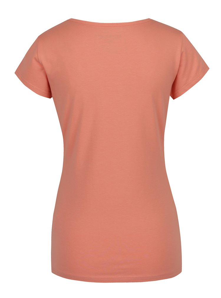 Oranžové dámské tričko s potiskem BUSHMAN Selma