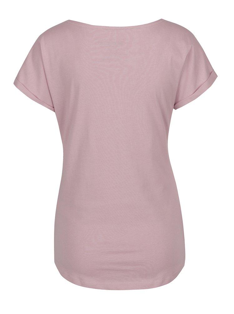 Růžové dámské tričko s potiskem BUSHMAN Ortona