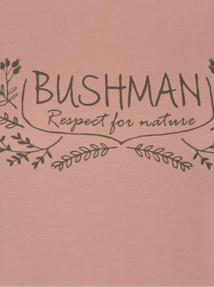 Oranžové dámské tričko s potiskem BUSHMAN Ortona