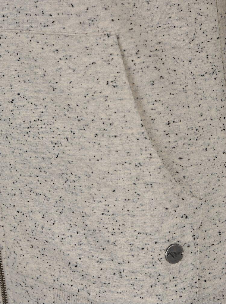 Béžová dámská žíhaná mikina s kapucí BUSHMAN Hicoria