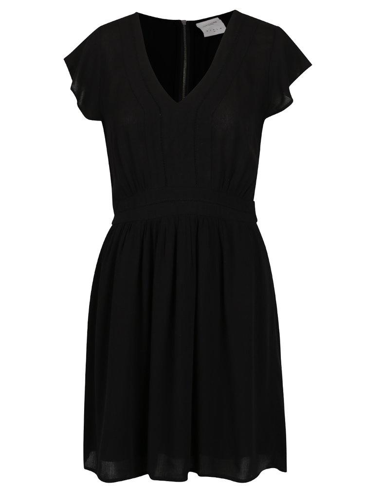 Černé šaty VERO MODA Aneborder