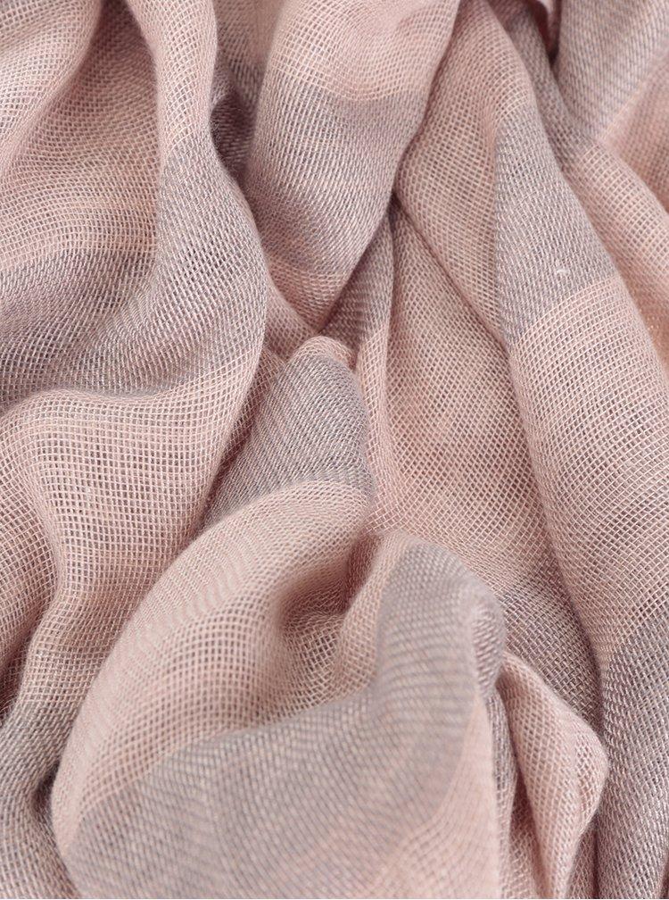 Šedo-růžový holčičí šátek name it Uli