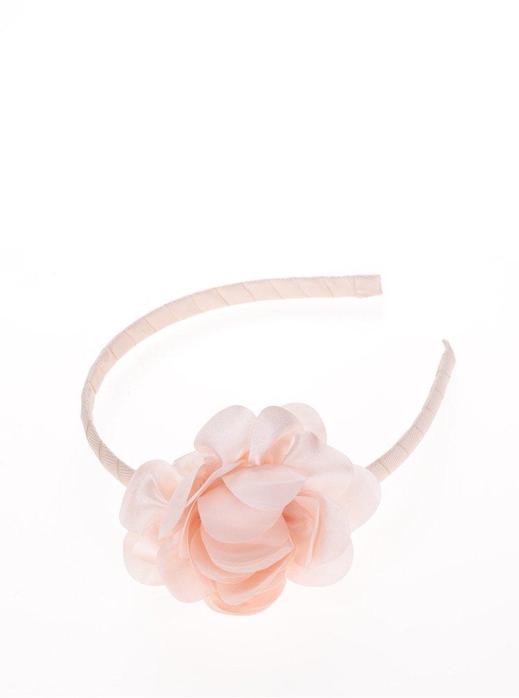 Růžová holčičí čelenka s květem name it Acc