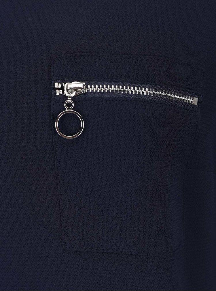 Tmavě modrá halenka s náprsní kapsou Dorothy Perkins