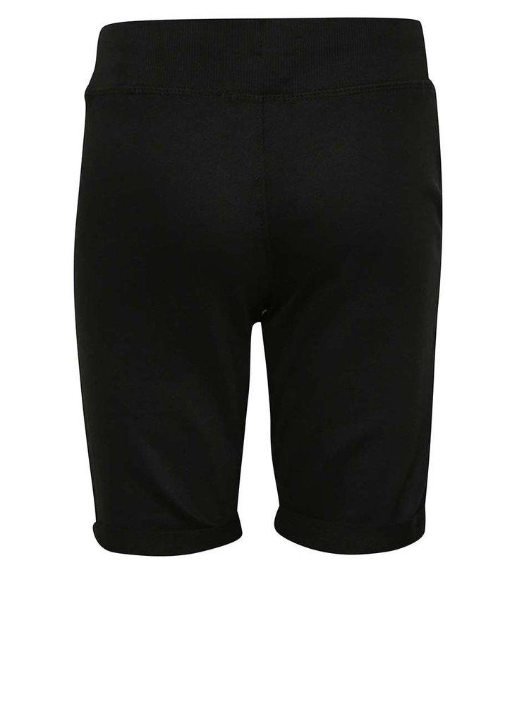Pantaloni scurți negri Blue Seven cu print