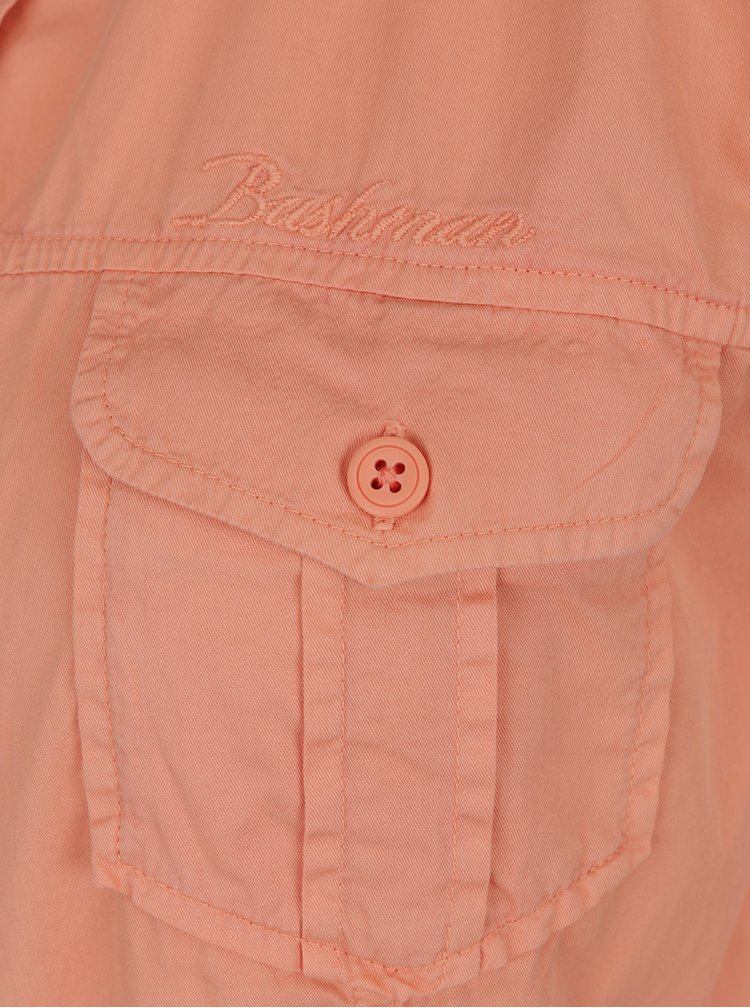 Oranžová dámska košeľa s krátkym rukávom BUSHMAN Tees