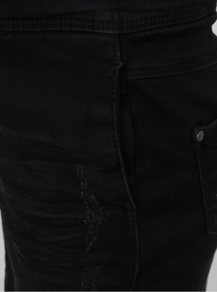 Černá holčičí džínová sukně se zipem name it Biclik
