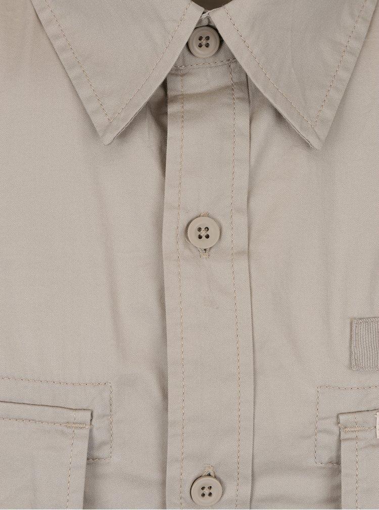 Béžová pánská košile s krátkým rukávem BUSHMAN Grange II.