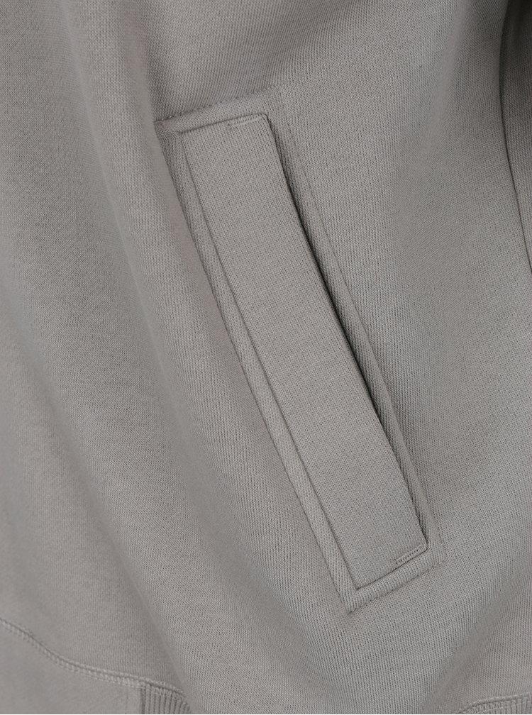 Světle šedá pánská mikina na zip BUSHMAN Vulcan
