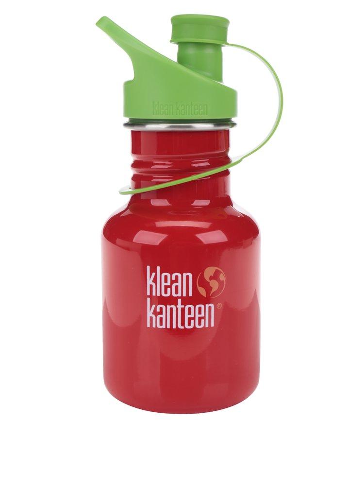Červená dětská nerezová lahev Klean Kanteen Kid Classic Sport 355 ml