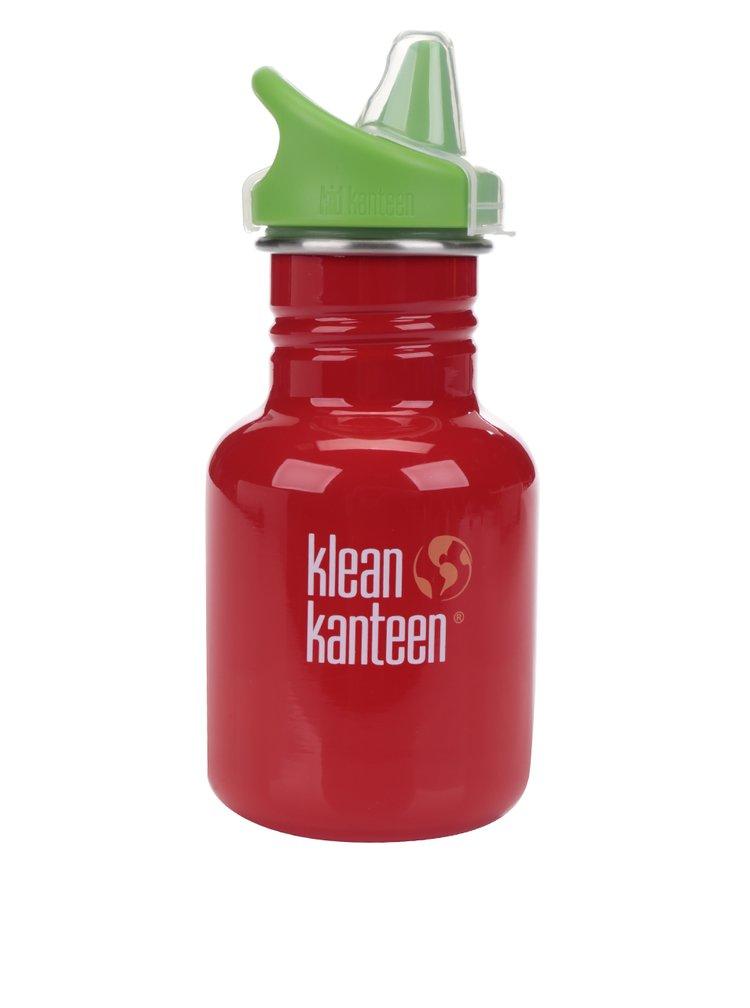 Sticlă de apă verde & roșu Klean Kanteen Kid Classic Sippy 355 ml