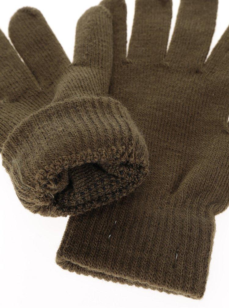 Khaki rukavice Pieces New Buddy