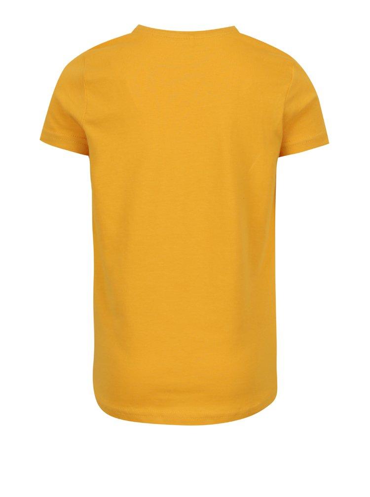 Hořčicové holčičí tričko s potiskem name it Oana
