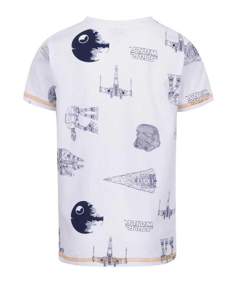 Bílé klučičí tričko s potiskem name it Star wars