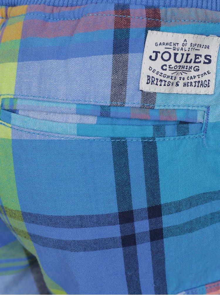 Modré kostkované klučičí kraťasy Tom Joule