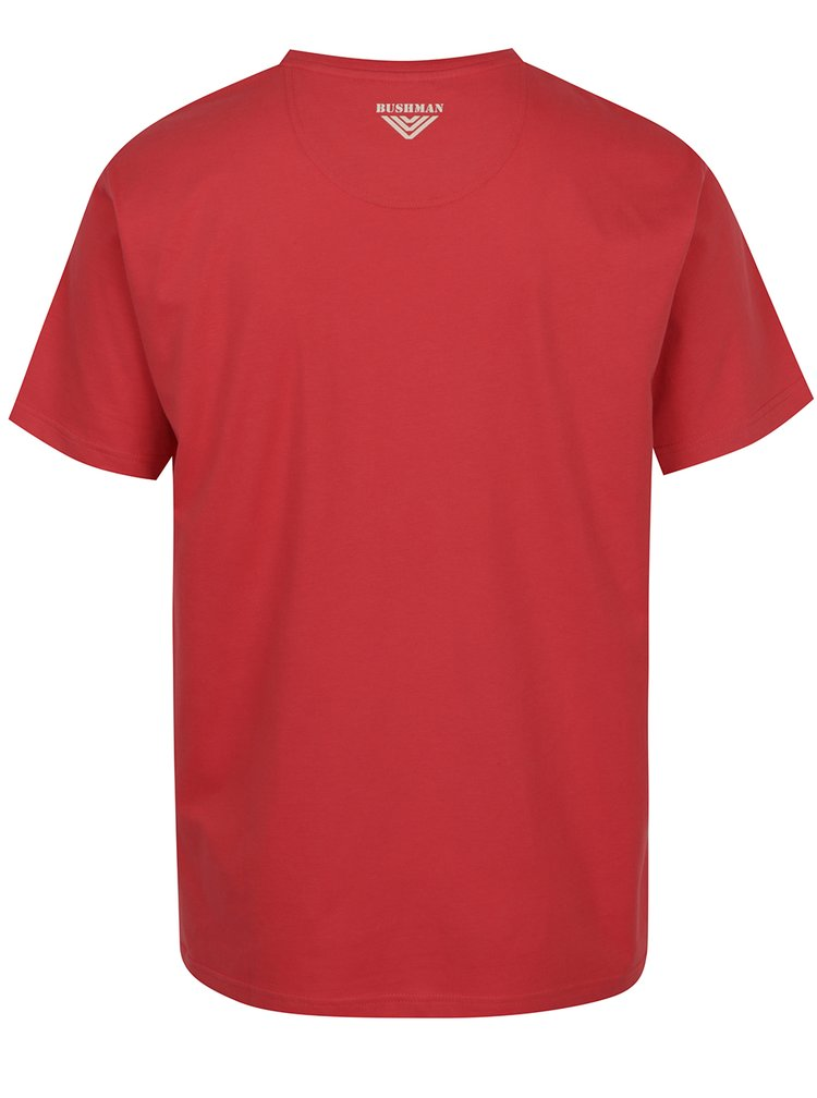 Červené pánské triko s potiskem BUSHMAN Yoakum