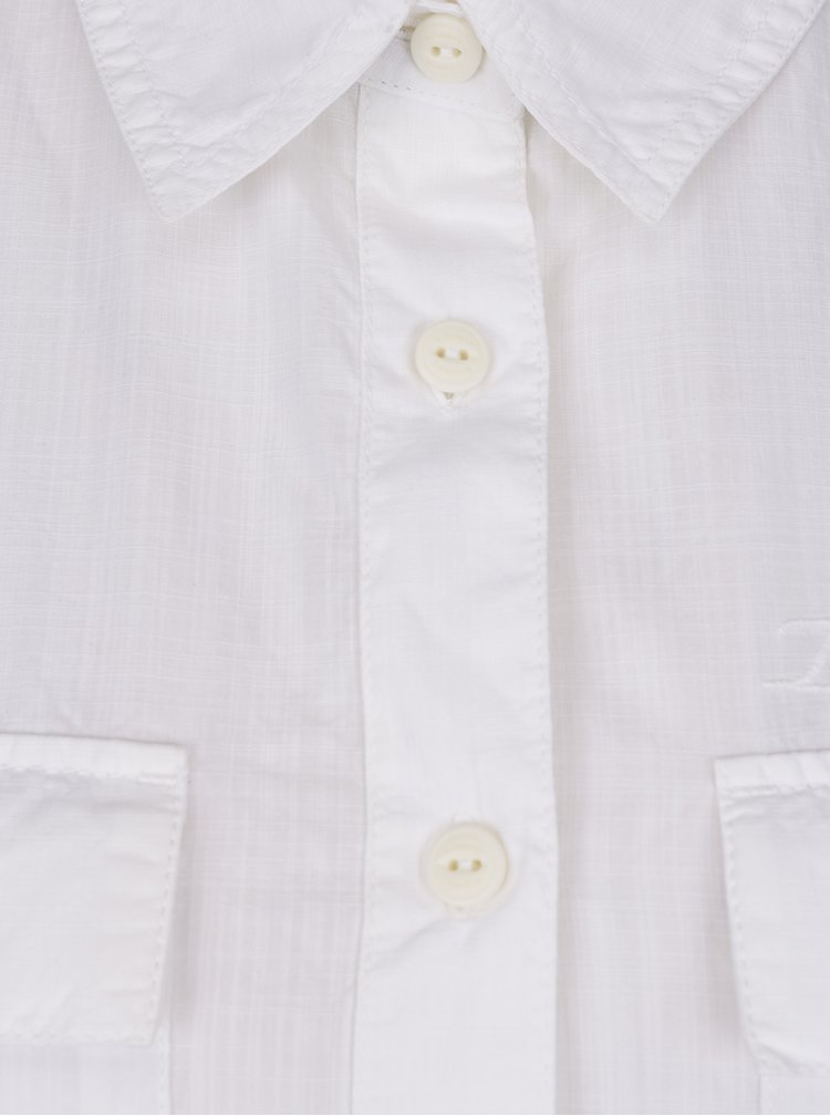 Bílá dámská košile volného střihu BUSHMAN Miami
