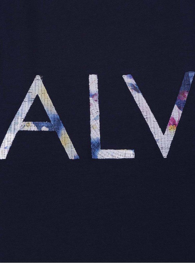 Tmavě modré dámské tričko s vyšívaným nápisem Calvin Klein Jeans Tanya