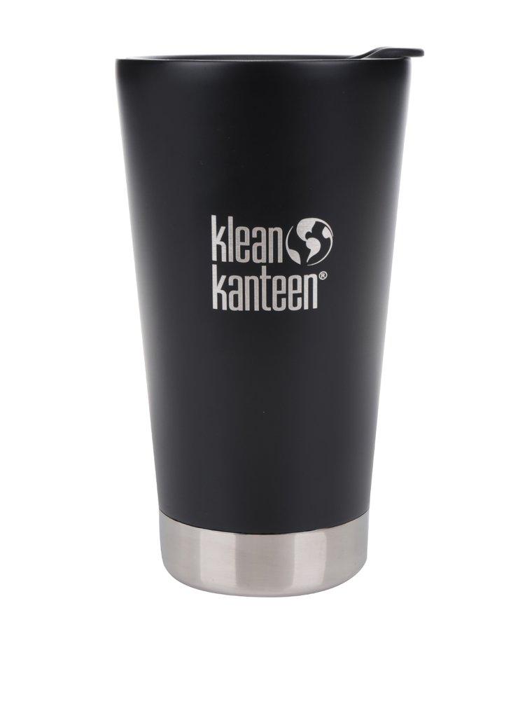 Cană termos negru & alb  Klean Kanteen Insulated Tumbler 473 ml