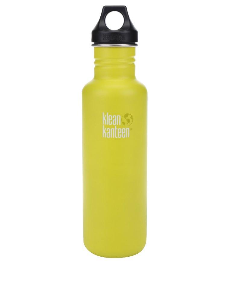 Světle zelená nerezová lahev Klean Kanteen Classic 800 ml