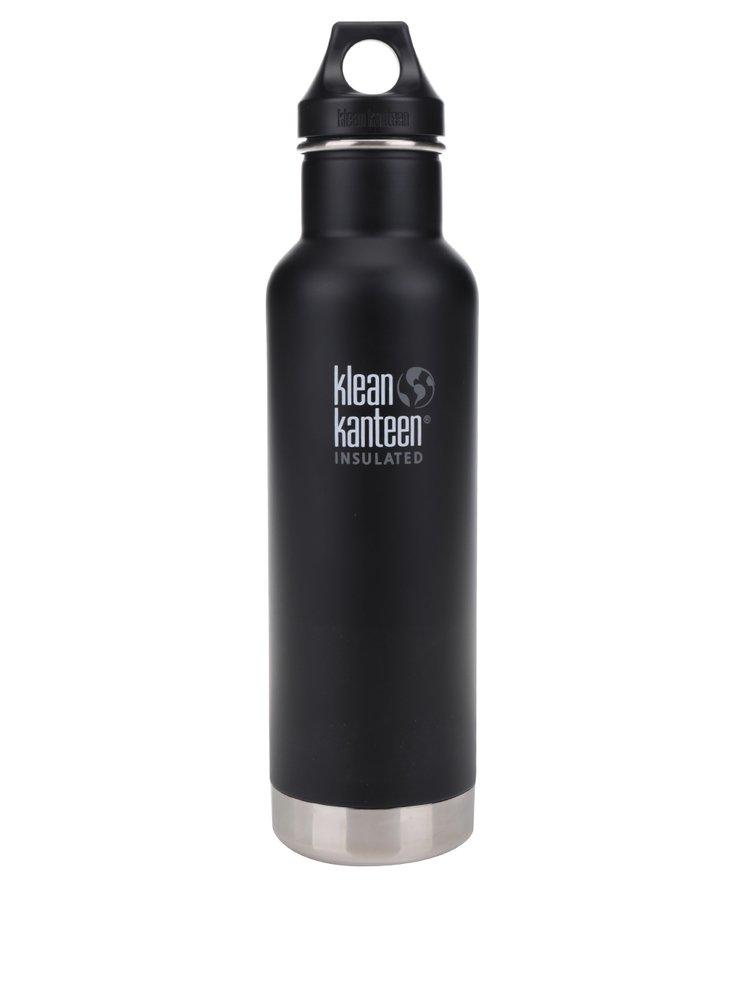 Sticlă termos negru & argintiu Klean Kanteen Insulated Classic 592 ml