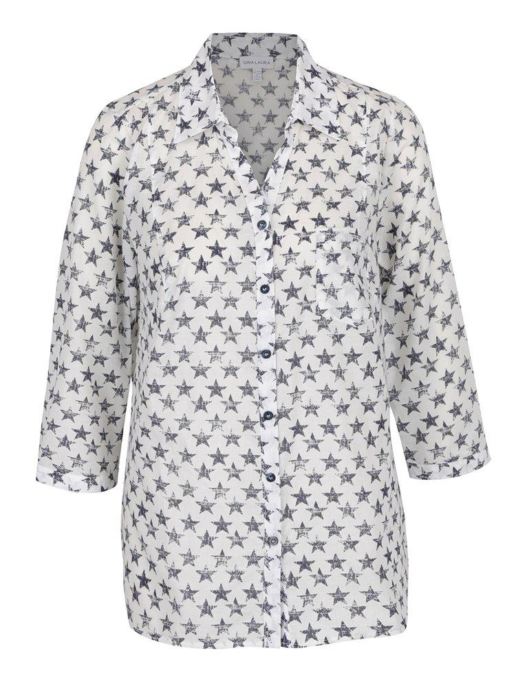 Krémová košile s motivem hvězd Gina Laura